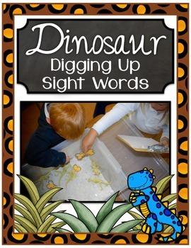 Dinosaur Center ~ Digging up Sight Words