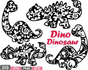 Dinosaur Clip Art prehistoric invitations party fossil ani