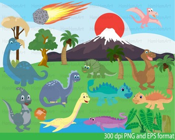 Dinosaur Clip Art teachers prehistoric invitations party f