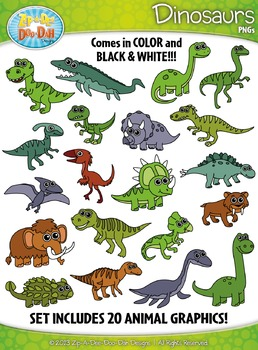 Dinosaur Clipart Set — Includes 40 Graphics!