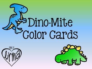 Dinosaur Color Cards