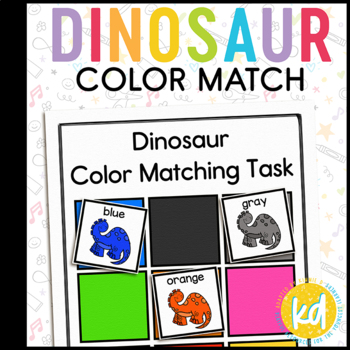 Dinosaur Color Matching Folder Game for students with Autism
