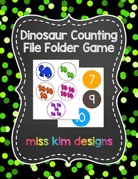 Dinosaur Counting File Folder Game for students with Autism