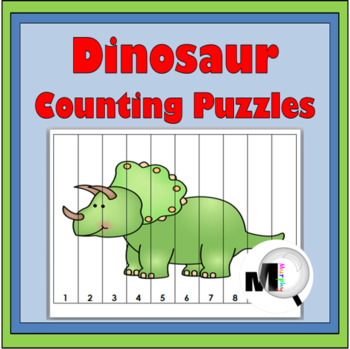 Dinosaur Theme Counting Puzzles - Numbers 1-120