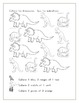 Dinosaur Counting worksheets in French