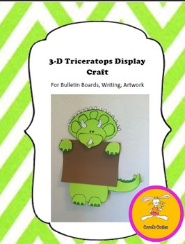 Dinosaur Craft - Triceratops Craft for Writing, Bulletin B