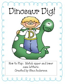 Dinosaur Dig-Matching upper and Lower case letters