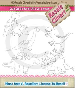 Dinosaur Digital line art