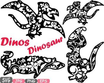 Dinosaur Dinos pack Mascot Flower Clipart zoo circus trex