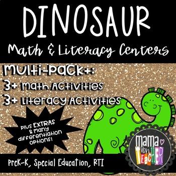 Dinosaur Discover! {Dinosaur Themed Early Math & Literacy
