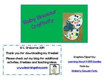 Dinosaur Egg Craftivity & Song