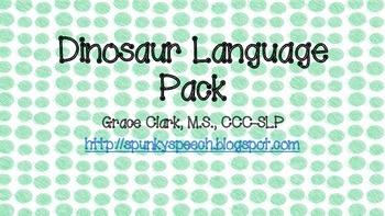 Dinosaur Expressive & Receptive Language Pack!