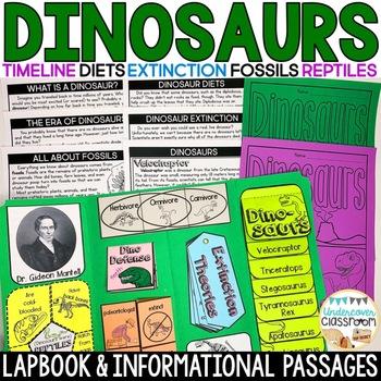 Dinosaur Lapbook Interactive Kit