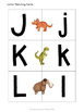 Dinosaur Letter Matching - Set of 26 - Uppercase to Lowercase