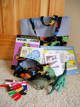 Dinosaur Literacy Prop Bag