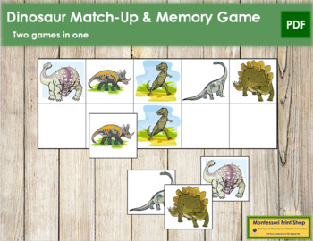 Dinosaur Match-Up and Memory