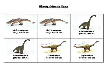 Dinosaur Matching Game
