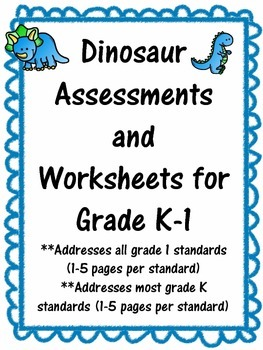 Dinosaur Math Assessment, Activities, and Worksheets All G