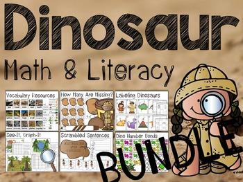 Dinosaur Math & Literacy Activities Bundle