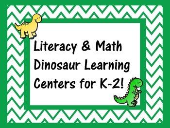 Dinosaur Math & Literacy Centers K-2