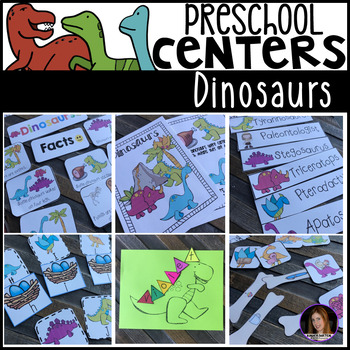 Dinosaur Math and Literacy Centers for Preschool