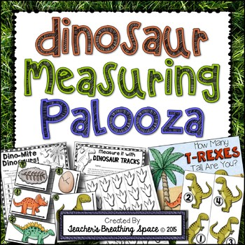 Dinosaur Measuring Palooza -- Dinosaur Measurement Math Centers