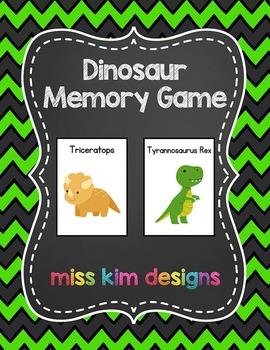 Dinosaur Memory Game