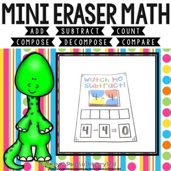Mini Eraser Math - Dinosaurs (Add, Subtract, Count, Compos