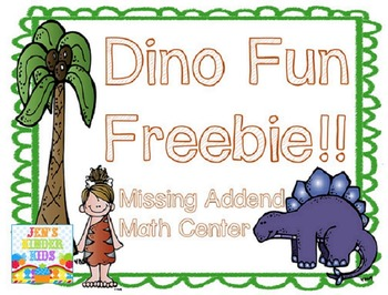 Dinosaur Missing Addends *FREEBIE*