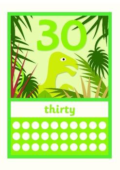 Dinosaur Numbers / Numberline 0 to 30