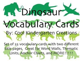 Dinosaur / Prehistoric Vocabualry Cards