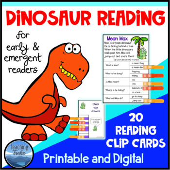 Dinosaur Activities: Reading Comprehension Passages for Re