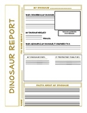 Dinosaur Report Printable