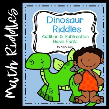Dinosaur Riddles -- Addition & Subtraction