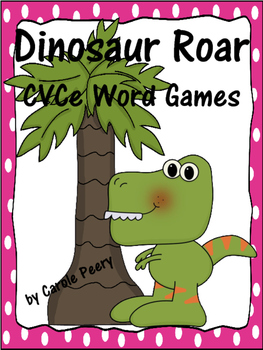 Dinosaur Roar CVCe Word Games