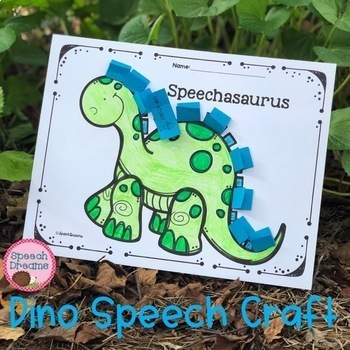 Dinosaur Speech Therapy Craft for Articulation Language or