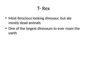 Dinosaur Study- T-Rex