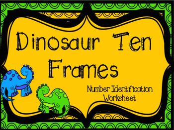 Dinosaur Ten Frame FREEBIE