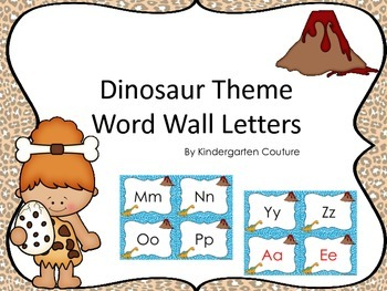 Dinosaur Theme Word Wall Letters