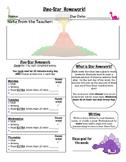 Dinosaur Themed Homework (Star homework)