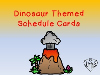Dinosaur Themed Schedule Cards
