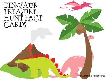 Dinosaur Treasure Hunt Fact Cards