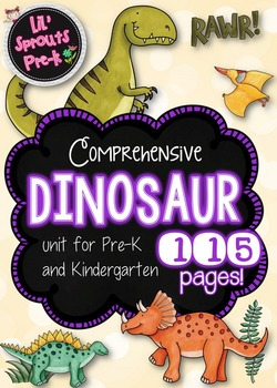 Dinosaur Unit for Pre-K and Kindergarten with Printables a