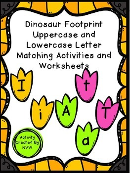 Dinosaur Uppercase and Lowercase Matching Activities and W