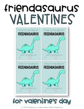 Dinosaur Valentine's Cards {Friendasaurus}