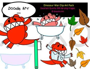Dinosaur War Clipart Pack