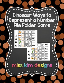 Dinosaur Ways to Represent A Number File Folder Game for s