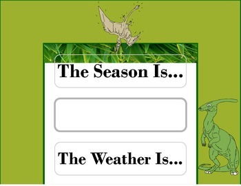 Dinosaur Weather Chart! Dinosaur Bulletin Board! Dinosaur