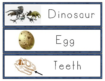 Dinosaur Word Wall and Vocabulary
