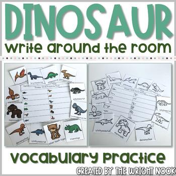 Dinosaur Write Around the Room